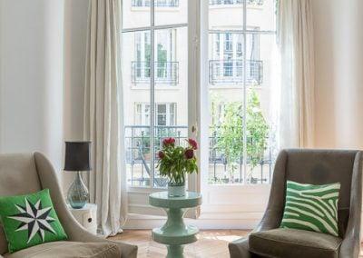 Un salon plein de fraicheur, par Fabienne Boé de Pirey, Architecte d'intérieur UFDI à Paris 75