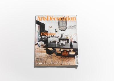 ART ET DECORATION Novembre 2018 - Couverture - Article sur Fabienne Boé de Pirey, Architecte d'intérieur et Décoratrice à Paris
