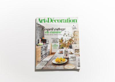 ART ET DECORATION Octobre 2018 - Couverture - Article sur Fabienne Boé de Pirey, Architecte d'intérieur et Décoratrice à Paris
