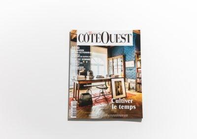MAISON COTE OUEST - Couverture - Article sur Fabienne Boé de Pirey, Architecte d'intérieur et Décoratrice à Paris