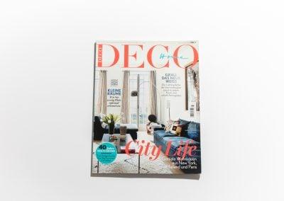 DECO HOME - Couverture - Article sur Fabienne Boé de Pirey, Architecte d'intérieur et Décoratrice à Paris
