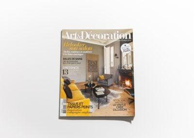 ART ET DECORATION Février 2016 - Couverture - Article sur Fabienne Boé de Pirey, Architecte d'intérieur et Décoratrice à Paris