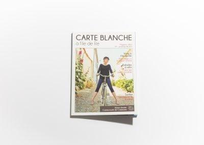CARTE BLANCHE A L'ILE DE RE - Couverture - Article sur Fabienne Boé de Pirey, Architecte d'intérieur et Décoratrice à Paris