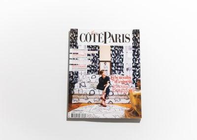VIVRE COTE PARIS - Couverture - Article sur Fabienne Boé de Pirey, Architecte d'intérieur et Décoratrice à Paris