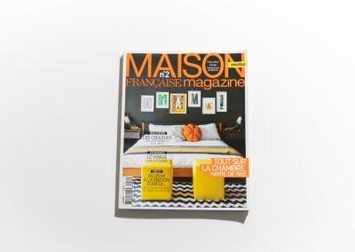 MAISON FRANCAISE MAGAZINE - Couverture - Article sur Fabienne Boé de Pirey, Architecte d'intérieur et Décoratrice à Paris