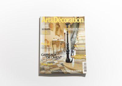 ART ET DECORATION Juin 2010 - Couverture - Article sur Fabienne Boé de Pirey, Architecte d'intérieur et Décoratrice à Paris
