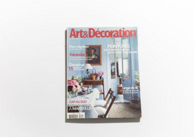 ART ET DECORATION Avril 2010 - Couverture - Article sur Fabienne Boé de Pirey, Architecte d'intérieur et Décoratrice à Paris