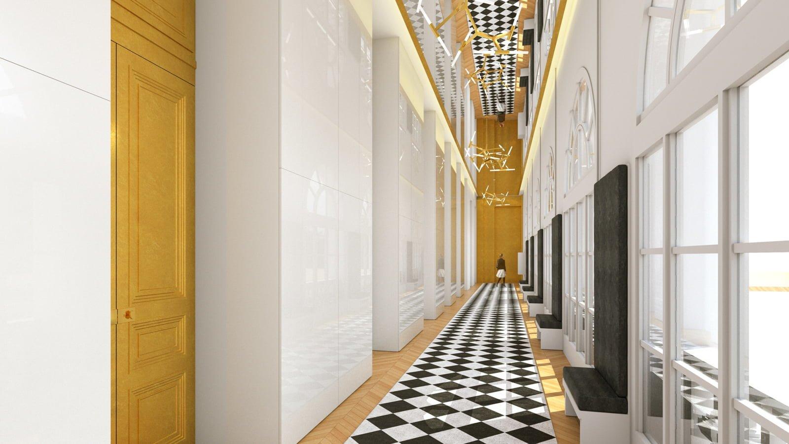 Décoration du siège social de l'Oréal Coiffure par Fabienne Boé de Pirey, Archictecte d'intérieur UFDI à Paris 75