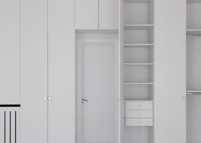 Aménagement de placards blancs, par Fabienne Boé de Pirey, Architecte d'intérieur UFDI à Paris 75