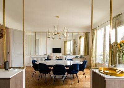 Une salle à manger dans un appartement haussmannien, par Fabienne Boé de Pirey, Architecte d'intérieur UFDI à Paris 75