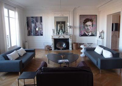 Salon haussmmanien aux touches d'années 50 par Fabienne Boé de Pirey, Architecte d'intérieur UFDI à Paris 75