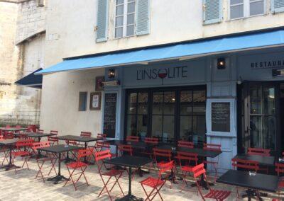Restaurant l'INSOLITE à Saint-Martin de ré - Terrasses, par Fabienne Boé de Pirey, Architecte d'intérieur UFDI à Paris 75